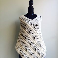 Wedding Poncho  White Poncho   Wool Poncho  by ErikasKnittingShop