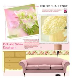 """""""Pink & Yellow Daydream"""" by vio8leta ❤ liked on Polyvore featuring interior, interiors, interior design, home, home decor, interior decorating, pinkandyellow and colorchallenge"""