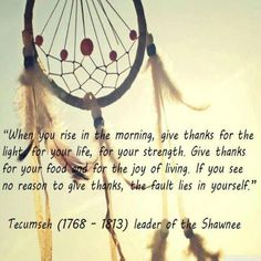 Love this quote && the dreamcatcher backdrop :) ...This is beautiful. Truly beautiful. :) I love the way many Native Americans look/looked at life. :)