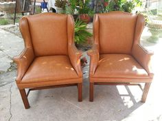 Wing Back chairs reupholstered