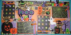 2 12x12 Premade Halloween Witch Scrapbooking Pages Paper Piecing | eBay