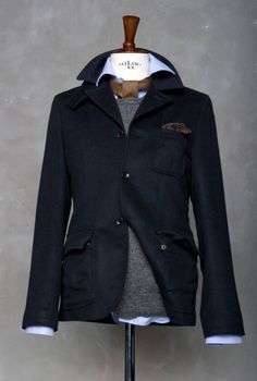 masculinewardrobe:    Cashmere jacket, can't get softer or warmer. Courtesy of The Tailoring Club.