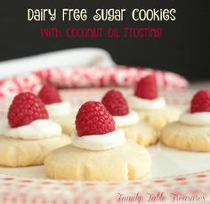 Dairy Free Sugar Cookies {with Coconut Oil Frosting} - Family Table Treasures