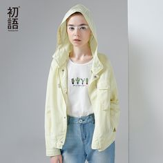 Aliexpress.com : Buy Toyouth Trench Coat 2017 Spring Women Hooded Coats Solid Color Draw String Casual Short Zipper Overcoats from Reliable trench coat suppliers on Toyouth