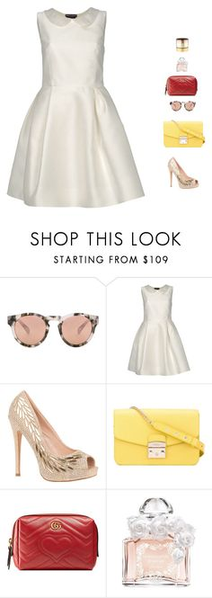 """""""pretty"""" by candynena228 ❤ liked on Polyvore featuring Westward Leaning, Rochas, Lauren Lorraine, Furla, Gucci, Guerlain and Gemma Redux"""