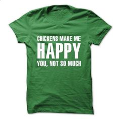 Chickens make me happy - #shirt #poncho sweater. SIMILAR ITEMS => https://www.sunfrog.com/LifeStyle/Chickens-make-me-happy-7520357-Guys.html?68278