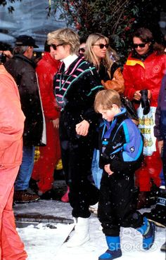 Princess Diana and Prince Henry Lech, Austria Photo: Dave Chancellor-alpha-Globe Photos Inc 1993