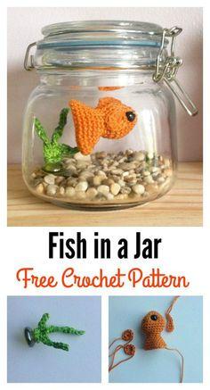 Crochet Fish Amigurumi in a Jar Free Pattern