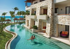 The NEW Secrets Akumal Riviera Maya! The resort combines a high level of luxury with scenic views