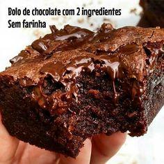 New cake recipes easy homemade chocolate ideas Bolo Chocolate Low Carb, Homemade Chocolate, Chocolate Recipes, Easy Cake Recipes, Low Carb Recipes, Sweet Recipes, Keto Fudge, Fudge Brownies, New Cake