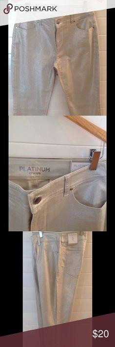 Selling this Chico's Platinum Cropped Pants on Poshmark! My username is: katescloset52. #shopmycloset #poshmark #fashion #shopping #style #forsale #Chico's #Pants