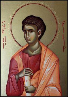 Philip the Apostle Byzantine Icons, Byzantine Art, Religious Paintings, Religious Images, Art Icon, Orthodox Icons, Christian Art, Christianity, Catholic