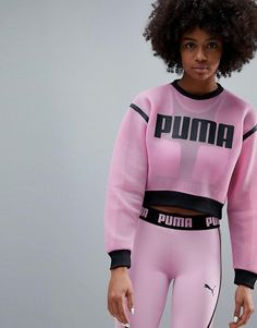 Buy Puma Exclusive To Asos Active Mesh Sweatshirt at ASOS. Get the latest trends with ASOS now. Blazer Fashion, Leggings Fashion, Fashion Outfits, Sweat Shirt, Sporty Outfits, Girl Outfits, Mode Des Leggings, Asos Sweatshirt, Puma Sweatshirts