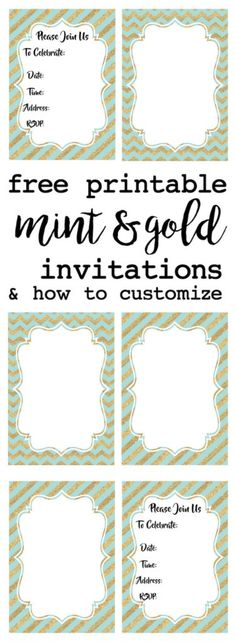 Free printable surprise birthday party invitations templates party mint and gold party invitations free printable filmwisefo
