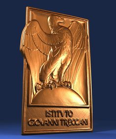 ngraved brass plaque | 3D scan 60 mm x 40 mm