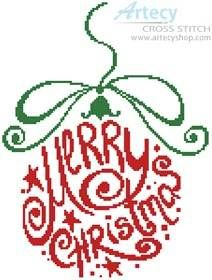 Abstract Christmas Bauble - cross stitch pattern designed by Tereena Clarke. Category: Christmas.