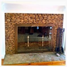 Glass Fireplace Screen, Fireplace Doors, Custom Fireplace, Fireplace Screens, Door Images, Open Fires, Custom Glass, Stone Work, Hearth