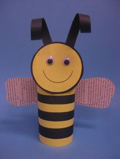 Paper bumblebees were a popular feature at our May 2013 Paper Craft program!