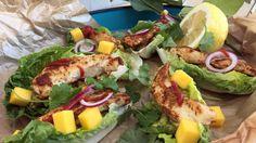 Taco med hjertesalat, kylling, avokadomos og hjemmelaget tacokrydder Tex Mex, Chorizo, Pulled Pork, Avocado Toast, Guacamole, Cobb Salad, Mango, Tacos, Food And Drink