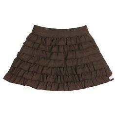 Chocolate Knit Ruffled Skirt