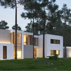 Country house in Zhukovka was designed by Russian architect Alexandra Fedorova. Images by Alexandra Fedorova