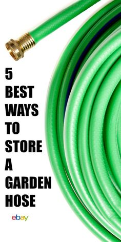 Garden hose storage ideas that make watering your landscape easy. Organize that tangled hose with these budget-friendly suggestions! #Sponsored