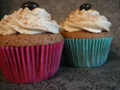 Coffee Frosted Irish Cream Cupcakes