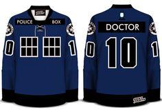 The Tardis 4.0 Hockey Jersey Doctor Who 2013 Dave Delisle