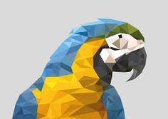 Image result for polygon paper parrot