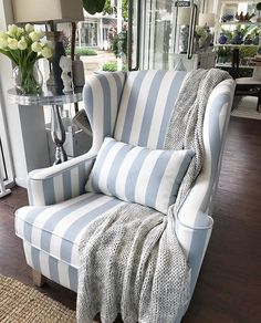 It's another rainy day here at Sanctuary Cove, and all I want to do is curl up in our Azurest Wing Chair with a cup of tea. Shop ~ Sanctuary Cove & James Street New Farm www.hamptonsstyle.com.au