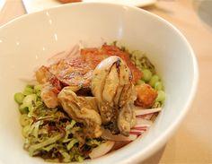 Pork Rice (보쌈 덮밥) - crispy pork belly, plump oysters @Jungsikdang, Seoul (Feb 2012)