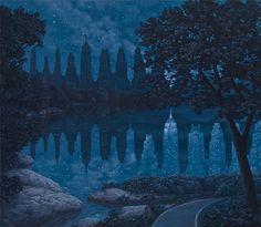 Rob Gonsalves aplicando ilusões de óptica na pintura