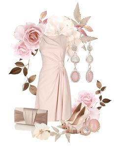"""rose mood"" by sagramora ❤ liked on Polyvore"