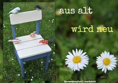 Verschönerter Stuhl / Beautified chair / Upcycling