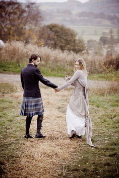 """Alternative wedding dress with a Primark cardigan""- said previous pinner... Me- forget the dress- that man is in a kilt! *swoon*"