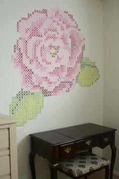 Look what Katie painted on her wall!  Awesome!!  How cute....maybe something similar in our living room?