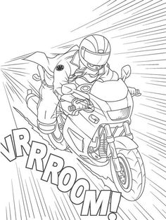 Sports coloring pages for adults ~ 3 extreme sports coloring pages - always looking for ...