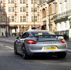 Porsche Cayman GT4 painted in GT Silver   Photo taken by: @henryjmw on Instagram