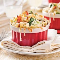Macaronis au fromage, brocoli et bacon - Recettes - Cuisine et nutrition - Pratico Pratique Bacon, Nutrition, Potato Salad, Macaroni And Cheese, Pizza, Macaronis, Eat, Breakfast, Ethnic Recipes