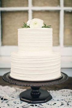 Wedding Cake Inspiration: White Minimalism / See more inspiration on The LANE (instagram @the_lane)