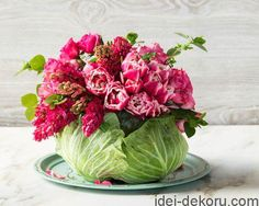 Adorn your dining room table this Mother's Day with our naturally beautiful centerpiece.Step-by-Step Instructions: Cabbage Centerpiece Spring Flower Arrangements, Floral Centerpieces, Table Centerpieces, Floral Arrangements, Centerpiece Ideas, Wedding Centerpieces, Wedding Table, Cabbage Flowers, Fresh Flowers