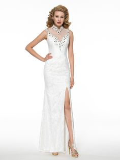 Tbdress.com offers high quality Modern See-Through Back Split-Front Lace Sheath Mother of the Bride Dress Mother of the Bride Dresses 2016 unit price of $ 153.89.