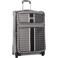 f99c8f84a Ninewest Luggage Sign Me Up 28 Inch Expandable Spinner BlackIvory One Size  -- Click on
