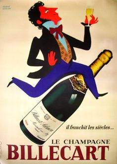 Vintage Advertising Poster | Billiecart Champagne