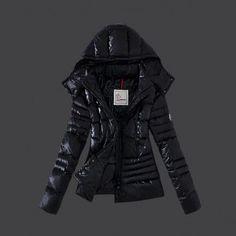 Moncler Women Down Coat Winkle Black Outlet M1056
