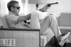 Sans gun and this is great style from Steve McQueen.