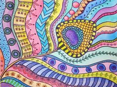 Zentangle Peacock Feather Watercolor | LIVE Summer Art Camp for Kids | How to draw and color a feather | Free Online Video Lesson by Angela Anderson on YouTube