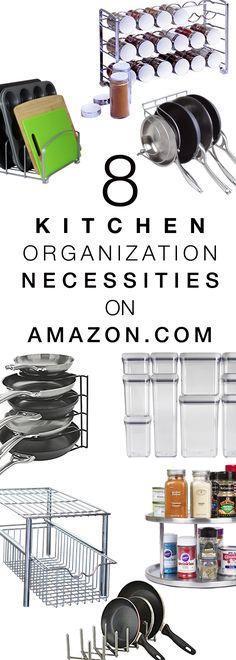 8 Kitchen Organization Necessities on Amazon.com