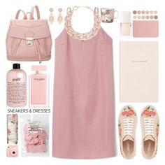 // simply spring // by sinesnsingularities on Polyvore featuring polyvore mode style 19th Street Coast DIANA BROUSSARD Narciso Rodriguez philosophy Christian Dior Deborah Lippmann Kate Spade Arabia Polaroid fashion clothing outfitideas contestentry SNEAKERSANDDRESSES