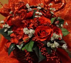 Heart Throb - Valentines  Premium Silk Floral Arrangement